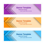 Set of modern horizontal vector banners. Vector illustration Stock Photography
