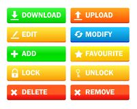 Set of modern icon for site. File manager, Collection Royalty Free Stock Photography