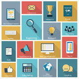 Set of modern icons Royalty Free Stock Photo