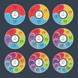 Set of modern infographic circle templates Stock Image