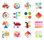 Set of modern infographic design templates Royalty Free Stock Image