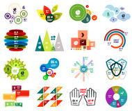 Set of modern infographic design templates Stock Photos