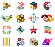 Set of modern infographic design templates Royalty Free Stock Images