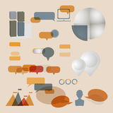 Set modern infographic elements. Vector illustration stock illustration