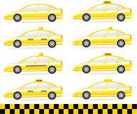 Set of modern isolated taxi Royalty Free Stock Images