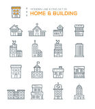 Set of Modern Line icons of Home & Building icons Stock Photo