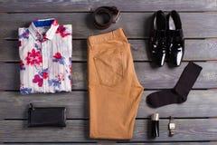 Set of modern men's clothing. Stock Photography