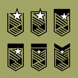 Set of modern military insignia. Modern heraldic. Royalty Free Stock Photos