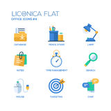 Set of modern office flat design icons and pictograms. Stock Image