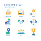 Set of modern office flat design icons and pictograms Stock Images