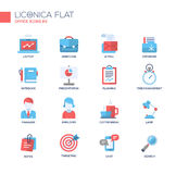 Set of modern office line flat design icons and pictograms. Stock Photography