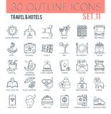 Travel & hotels Icons Stock Image
