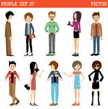 Set of modern people, men and women Royalty Free Stock Images