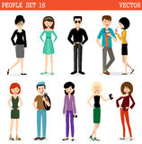 Set of modern people, men and women. Royalty Free Stock Photos