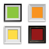 Set of modern picture frames Stock Photos