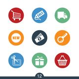 Set of modern retail icons Stock Photography