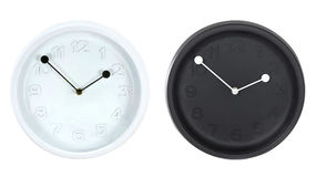 Set of modern round wall clocks Stock Photo