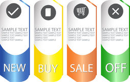 Set of modern sale labels Stock Photos