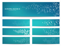 Set of modern scientific banners. Royalty Free Stock Images