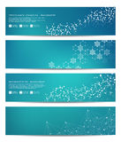 Set of modern scientific banners. Molecule structure DNA and neurons. Abstract background. Medicine, science, technology Stock Photography
