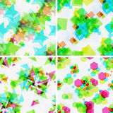 Set of modern seamless patterns. Royalty Free Stock Photography