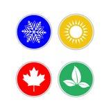 Set of modern season colored icons. Vector illustration Stock Photo