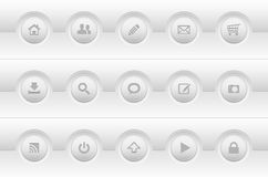 Set of modern simple web icons Stock Photos