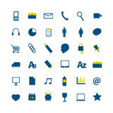 Set of modern social media icon.  Royalty Free Stock Image