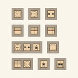 Set of modern sockets Royalty Free Stock Photos