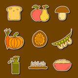 Set of modern stickers in hand drawn style on Royalty Free Stock Photos