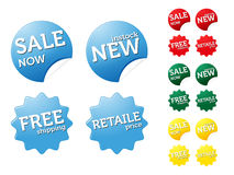 Set of modern stickers on sale/retaile theme Royalty Free Stock Photo