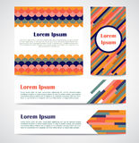 Set of modern striped abstract poster, banners, cards template. Stock Photo