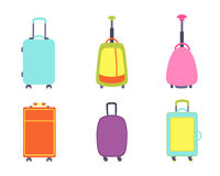 A set of modern suitcases Royalty Free Stock Photos