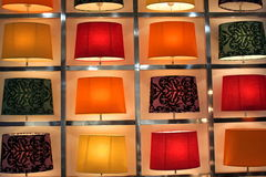 Set of modern table lamps. Set of modern design table lamps colored Stock Photo