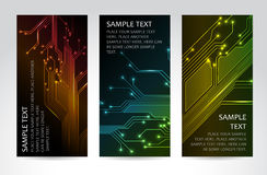 Set of modern technical banners. Set of modern dark vertical technical banners Royalty Free Stock Images