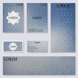 Set of modern templates for brochure, flyer, visit cards and banner Stock Photo