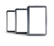 Set of modern touchscreen smartphones Royalty Free Stock Photos
