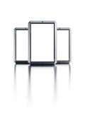 Set of modern touchscreen smartphones Stock Photos