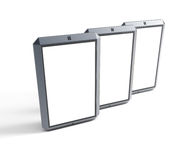 Set of modern touchscreen smartphones Royalty Free Stock Photography