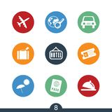 Set of modern travel icons Royalty Free Stock Photos