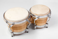 Set of modern tunable bongos Royalty Free Stock Photo