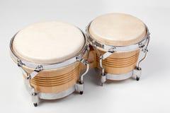 Set of modern tunable bongos Royalty Free Stock Photo