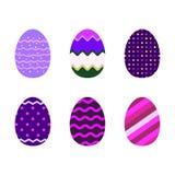 Ultra violet colored Easter eggs. Set of modern ultra violet colored Easter eggs Stock Photo