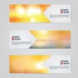 A set of modern vector abstract design banner web template. Stock Photography