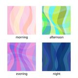 Set of modern vector backgrounds Royalty Free Stock Image