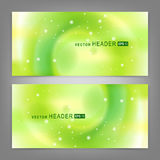 Set of modern vector banners Royalty Free Stock Photos