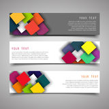A set of modern vector banners. Royalty Free Stock Images