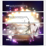 Set of modern vector banners. Abstract Stock Photography