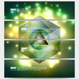 Set of modern vector banners. Abstract Royalty Free Stock Images