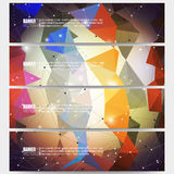 Set of modern vector banners. Abstract Royalty Free Stock Photos